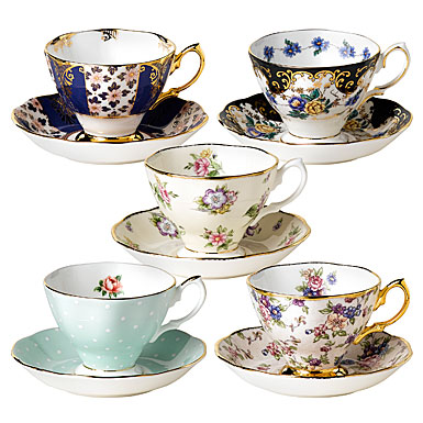 100 Years of Royal Albert, 1900-1940 10-Piece Teacup and Saucer Set