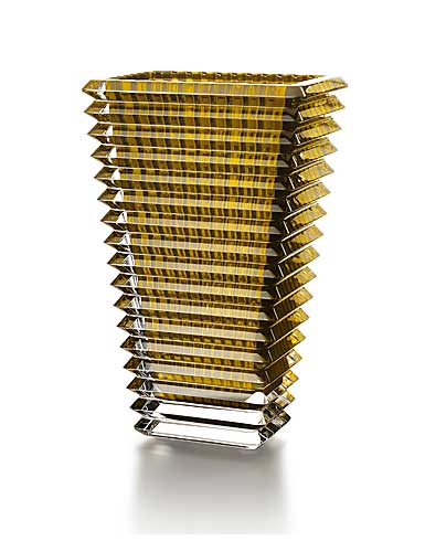 Baccarat Eye Rectangular Large Vase, Yellow