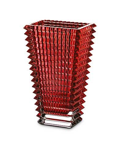 Baccarat Eye Rectangular Large Vase, Red