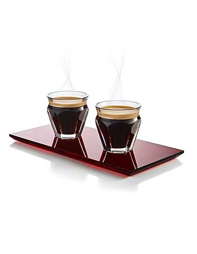 Baccarat Harcourt Cafe Coffee Set with Red Tray