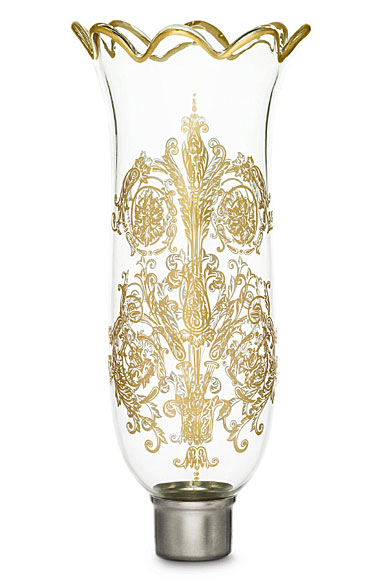Baccarat Hurricane Shade, Scalloped Top, Gilded, Acanthus