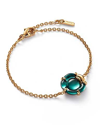 Baccarat B Flower Bracelet, Green Mordore and Vermeil