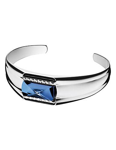 Baccarat Louxor Large Bracelet, Silver and Blue Mordore