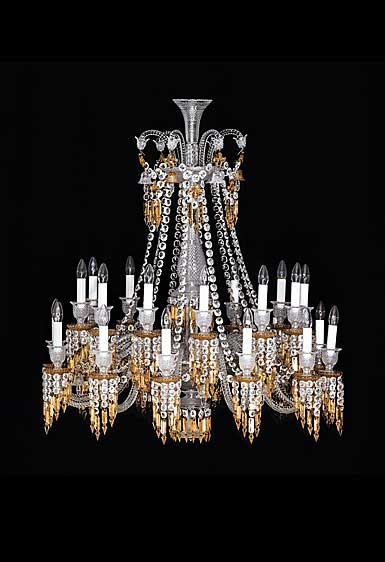 Baccarat Zenith Charleston 24 Light Chandelier, Short
