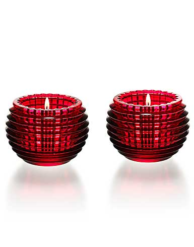 Baccarat Red Eye Votive, Pair