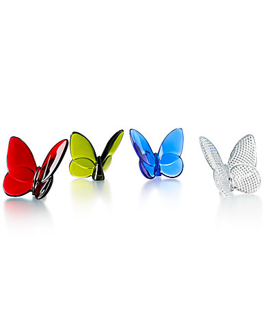 Baccarat Lucky Butterfly, Set of Four