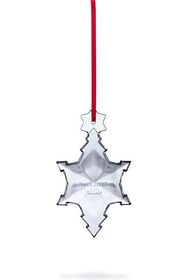 Baccarat 2017 Annual Snowflake Ornament, Clear