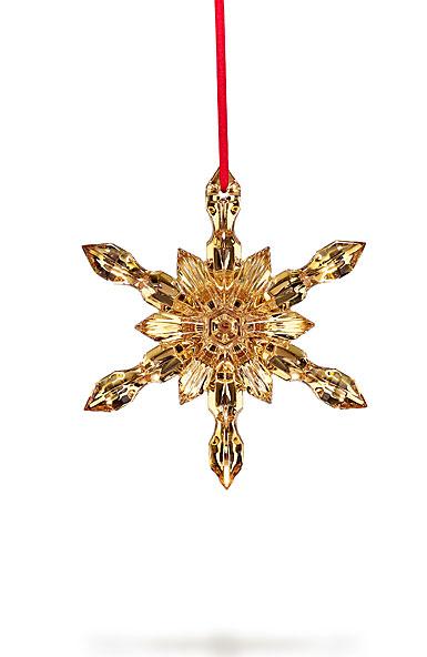 Baccarat 2017 20K Gold Snowflake Ornament