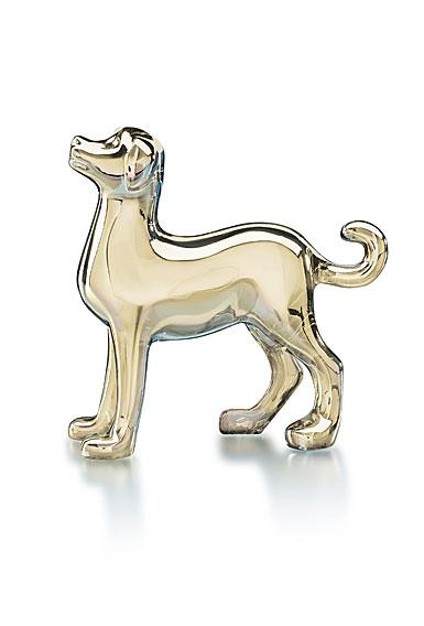 Baccarat Zodiac Dog, Gold