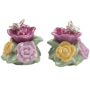 Royal Albert Old Country Roses Butterfly Salt & Pepper