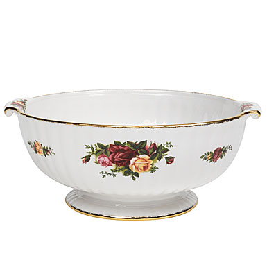 Royal Doulton China Royal Albert China Old Country Roses Fluted Bowl