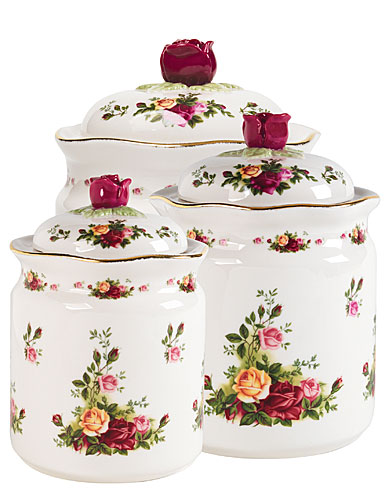Royal Albert China Old Country Roses Canisters