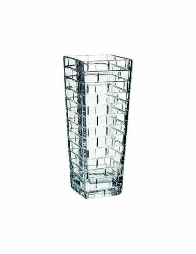 """Rogaska Quoin 12 1/2"""" Square Vase"""
