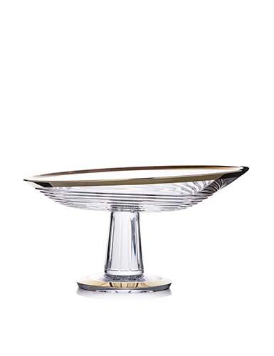 """Rogaska Amphora Centerpiece, Platter 13"""" Gold"""
