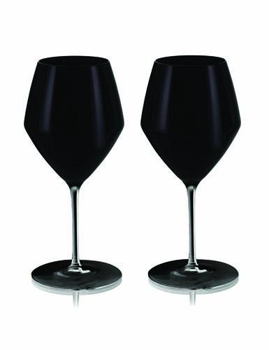 Rogaska Expert Y Black Pinot, Pair