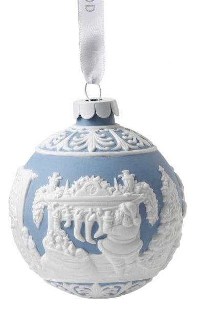 Wedgwood The Night Before Christmas 2015 Blue Ornament
