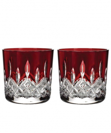 Waterford Lismore Red Tumbler, Pair