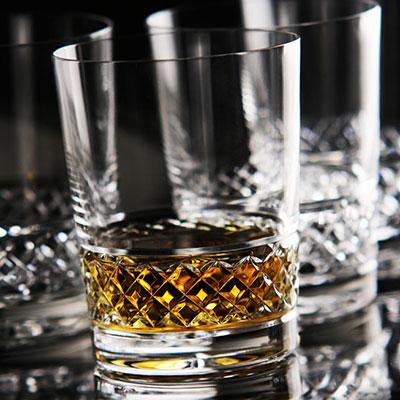 Cashs Crystal Cooper Single Malt Whiskey Glasses, Set of 4