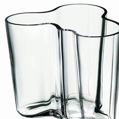 "Iittala Alvar Aalto 3 3/4"" Vase, Clear"