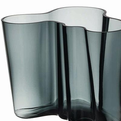 "Iittala Alvar Aalto 6 1/4"" Vase, Dark Grey"