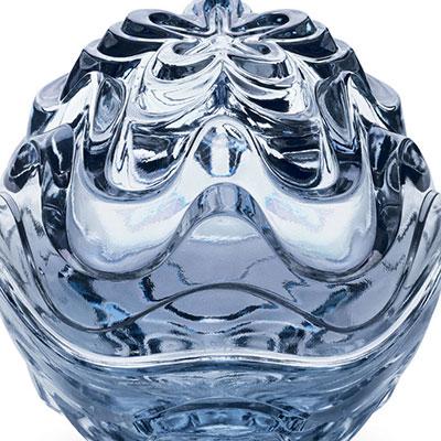 Lalique Vibration Box, Blue Luster