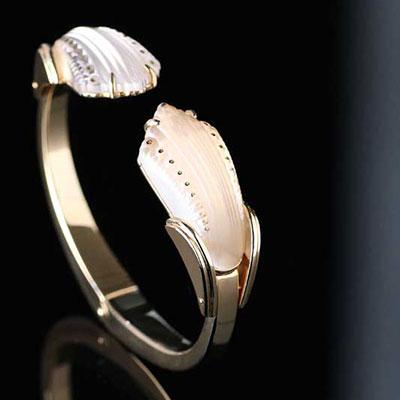 Lalique Icone Bracelet, Vermeil