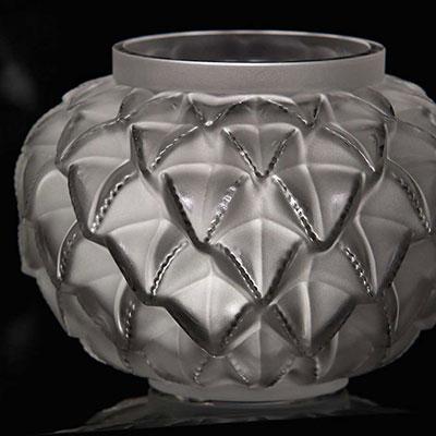 """Lalique Languedoc 8 7/16"""" Vase, Clear"""