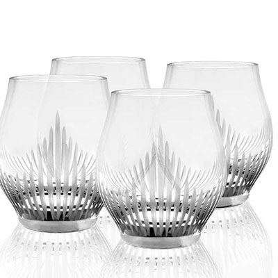 Lalique 100 Points Shot Glasses By James Suckling, Set of Four