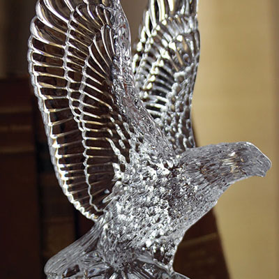 Waterford Fred Curtis Eagle Sculpture