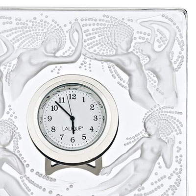 Lalique Naiades Clock, Clear