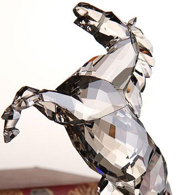 Swarovski Soulmates Satin Stallion Sculpture