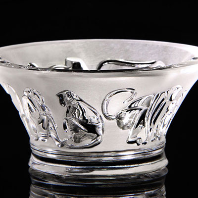 Lalique Monkey Votive, Clear