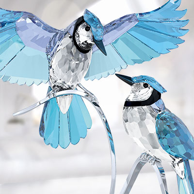 Swarovski Paradise Pair of Blue Jays