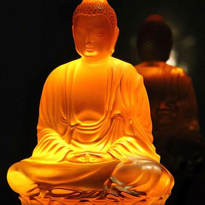 Lalique Amber Buddha, Large, Limited Edition