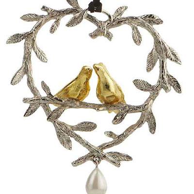 Michael Aram 2017 Lovebirds Ornament