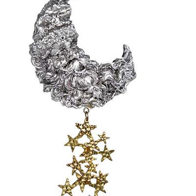 Michael Aram 2017 Santa Moon Ornament