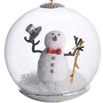 Michael Aram 2017 Snowman Snow Globe Ornament