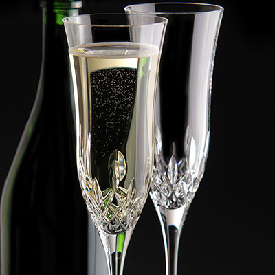 Waterford Lismore Essence Champagne Flutes, Pair