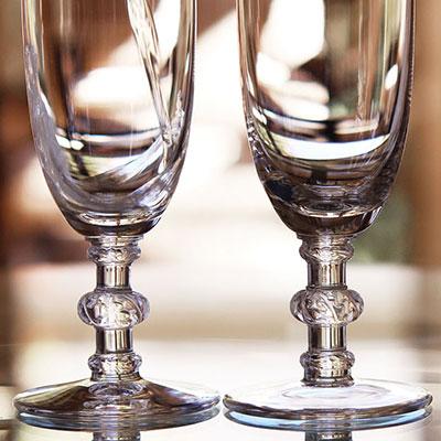 Lalique Saint Hubert Champagne Flute, Single