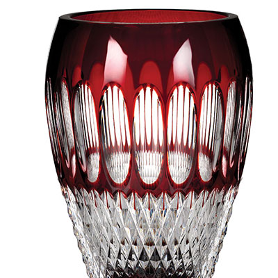 "Waterford Colleen 8"" Vase, Ruby"