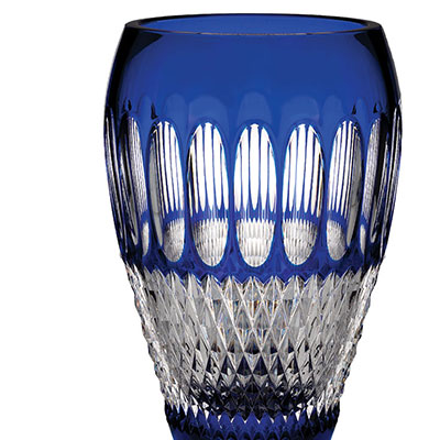 "Waterford Colleen 60th Anniversary Cobalt 8"" Vase"