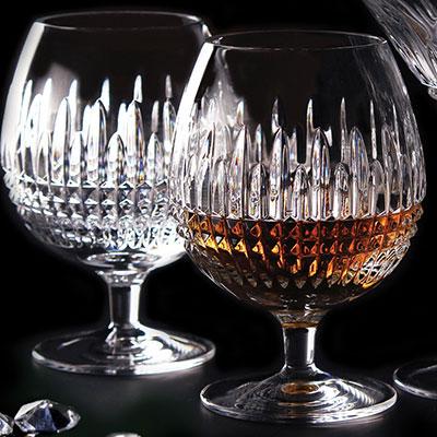 Waterford Lismore Diamond Brandy, Pair