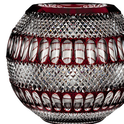 """Waterford House of Waterford Colleen 60th Anniversary Limited Edition 12"""" Large Ruby Rose Bowl"""