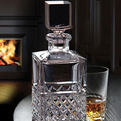 Cashs Crystal Cooper Single Malt Whiskey Square Decanter