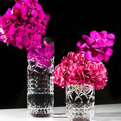"Waterford Jeff Leatham Fleurology Tina 16"" Vase"