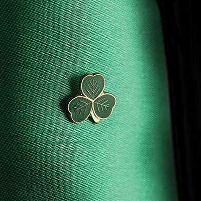 Cashs St. Patrick's Shamrock Lapel Pin