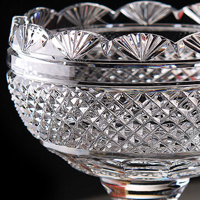 Cashs Ireland, Art Collection, Footed Sugar Crystal Bowl, Limited Edition