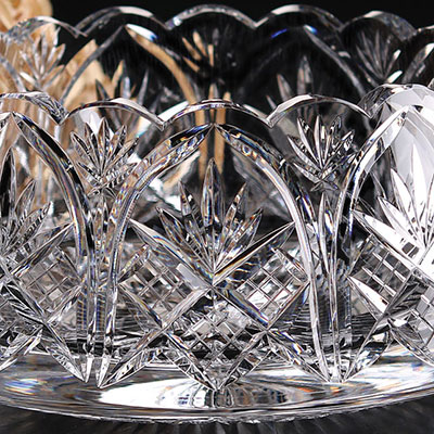 """Cashs Crystal Art Collection, Cathedral 9"""" Bowl"""