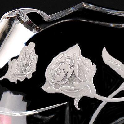 Cashs Crystal Art Collection Irish Rose Vase, Limited Edition
