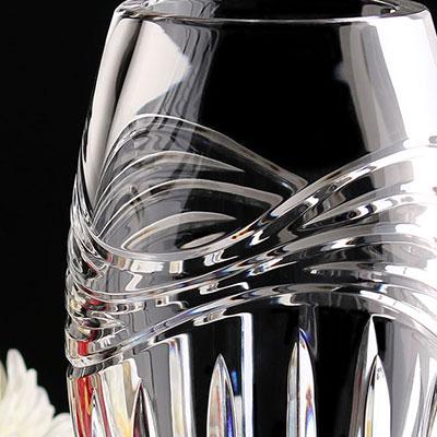"Cashs Crystal Wild Atlantic Way 10"" Vase, Limited Edition"